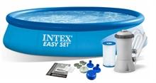 28142 Надувной бассейн Intex Easy Set Pool (396 х 84 см) + фильтрующий картриджный насос