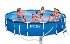 28232 Каркасный бассейн круглый  Intex, 457х91см, фильтр-насос картр 3785 л/ч (28234)