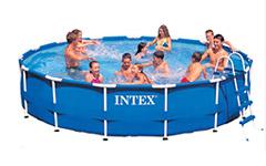 28234 Каркасный бассейн круглый  Intex, 457х107см, фильтр-насос картр 3785 л/ч (28232, 28236)