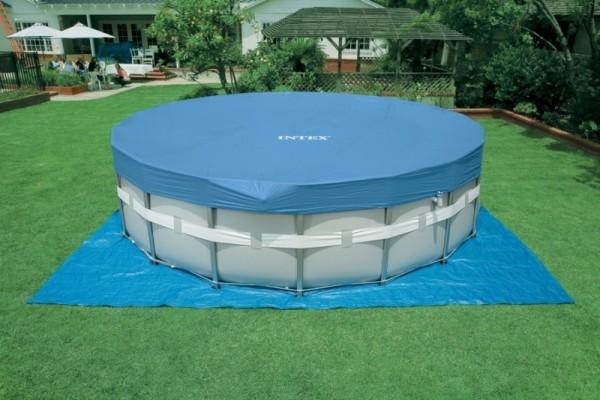 28328 Каркасный бассейн круглый Intex, 488х122см, хлоратор+фильтр-насос картр 4542 л/ч