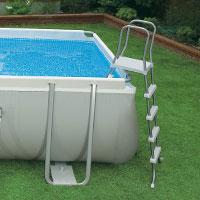 28362 Каркасный бассейн прямоугольный Intex, 732х366х132см, фильтр-насос песчанный 6000 л/ч