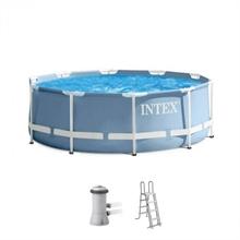 28726 Каркасный бассейн круглый Intex, 366х122см, фильтр-насос картр 3785л/ч