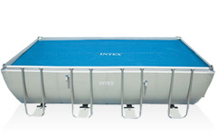 29027 Обогревающее покрывало Intex Solar Cover для бассейнов 732х366 см