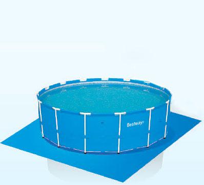 56259 Каркасный бассейн круглый  BestWay, 366х122см, фильтр-насос песчанный 2006 л/ч