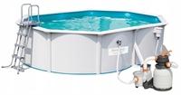 56586 Каркасный бассейн прямоугольный со стальными стенками BestWay, 500х360х120см, фильтр-насос песчанный 3785 л/ч (56583)