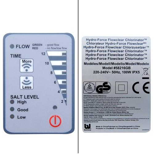 58216 Хлорогенератор  для бассейнов, BestWay обьемом до 45,42 м3 , производительность (12 г/ч хлора) (28670, 28668)
