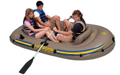 68319 Надувная лодка Intex ПВХ Excursion 3 Set 262х157х42 см