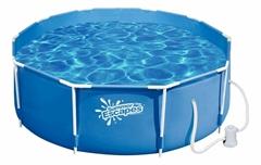 P20-1042-A Каркасный бассейн круглый Summer Escapes, 305х106см, фильтр-насос картр 2300 л/ч