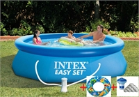 Круглый надувной бассейн 305х76см+фильтр-насос 1250л/ч