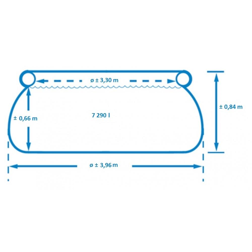 Круглый надувной бассейн 396х84см+фильтр-насос 2006л/ч